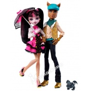 Monster High - Upiorni Uczniowie: Clawd Wolf i Draculaura