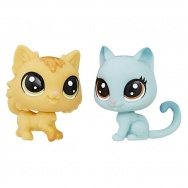 Littlest Pet Shop - figurki 2pak - Fluffy Catson i Kitty Von Grey-Cat C1677