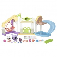 Littlest Pet Shop - Pets in the City - mini zestaw - Plażowy Plac Zabaw B6958