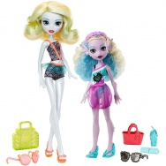 Monster High - Monster Family - Lagoona Blue z siostrą (Kelpie Blue) FCV82
