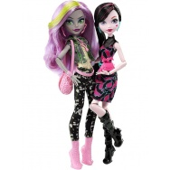 Monster High - Witamy w Monster High - komplet lalek: Draculaura i Moanica