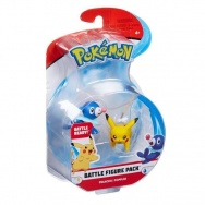 Pokemon - CH - komplet 2 figurek - 96197 Pikachu vs Popplio
