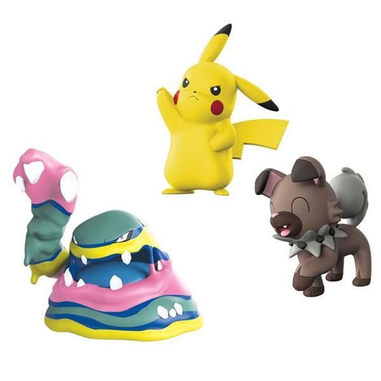 8d6a1d2762f28 Pokemon - CH - komplet 3 figurek - Alolan Muk, Pikachu i Rockruff (97522)