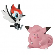 Pokemon Go - Pokemon Sun i Moon - TOMY - komplet 2 figurek - T19181 Pikipek vs Clefairy