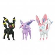 Pokemon Sun i Moon - TOMY - komplet 3 figurek - T19131 Umbreon, Sylveon, Espeon