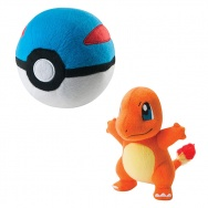 Pokemon - TOMY - Charmander 21cm + Great Ball