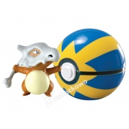 Pokemon - TOMY - figurka+kula - T18832 Cubone + Quick Ball