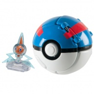 Pokemon - TOMY - figurka+kula 2 - T19114 Rotom + Great Ball