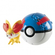 Pokemon - TOMY - figurka+kula - T18876 Fennekin + Great Ball