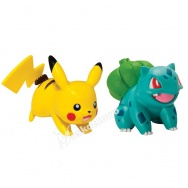 Pokemon - TOMY - komplet 2 figurek - T18757 Bulbasaur vs Pikachu