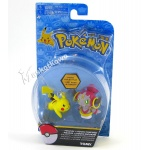 Pokemon - TOMY - komplet 2 figurek - T18865 Hoopa vs Pikachu