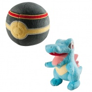 Pokemon - TOMY - Totodile 18cm + Luxury Ball