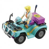 Scooby Doo - pojazd i figurka: Quad i Fred (Phantom Chase Quad Bike)
