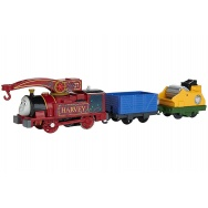 TrackMaster: kolejka Hubcio (Helpful Harvey) - lokomotywa + 2 wagony