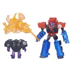 Transformers - Robots in Disguise - zestaw bojowy - Optimus Prime vs. Bludgeon