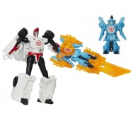 Transformers - Robots in Disguise - zestaw z miniconem - Sideswipe + Windstrike