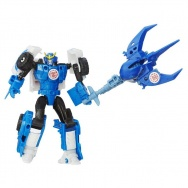 Transformers - Robots in Disguise - zestaw z miniconem - Strongarm + Sawtooth