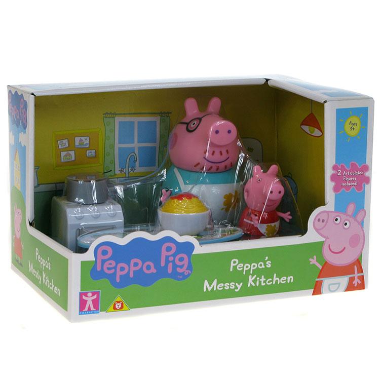 Zestaw Figurek świnka Peppa Kuchnia Tata świnka