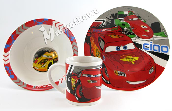 Zestaw Obiadowy Dla Dzieci Ceramiczny Auta Cars
